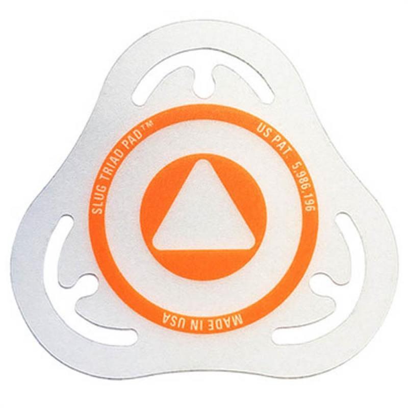 Slug Percussion Triad Batter Badge – Orange