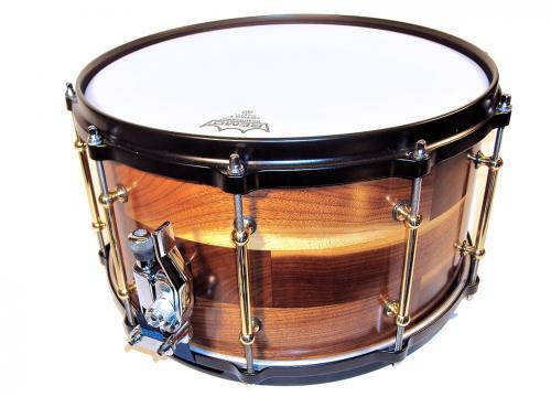 "Beat head Exotic wood 14x8"" heavy black oak"