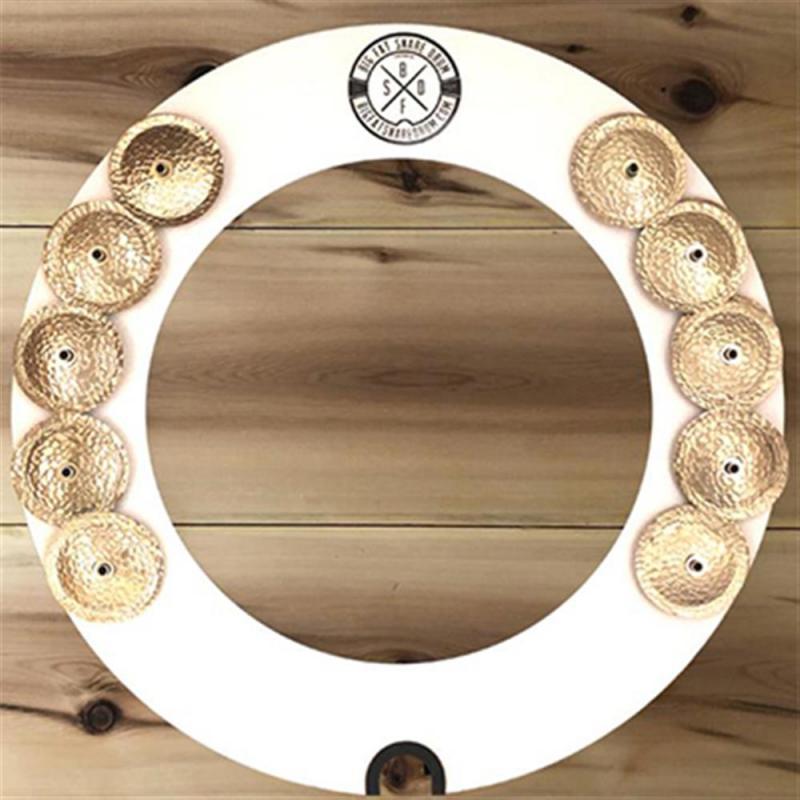 Big Fat Snare Drum  14'' Halo Ring White Copper