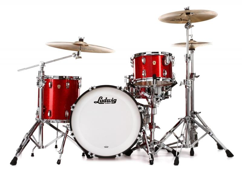 "Ludwig Classic Maple Downbeat 20"" - Red sparkle"