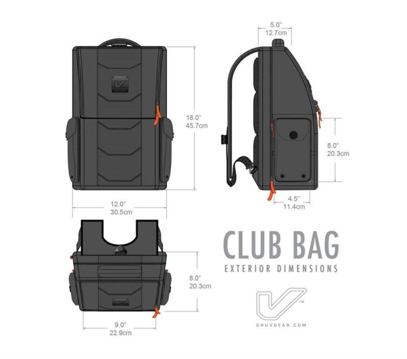 Gruv Gear Club Bag – Classic Black/Orange