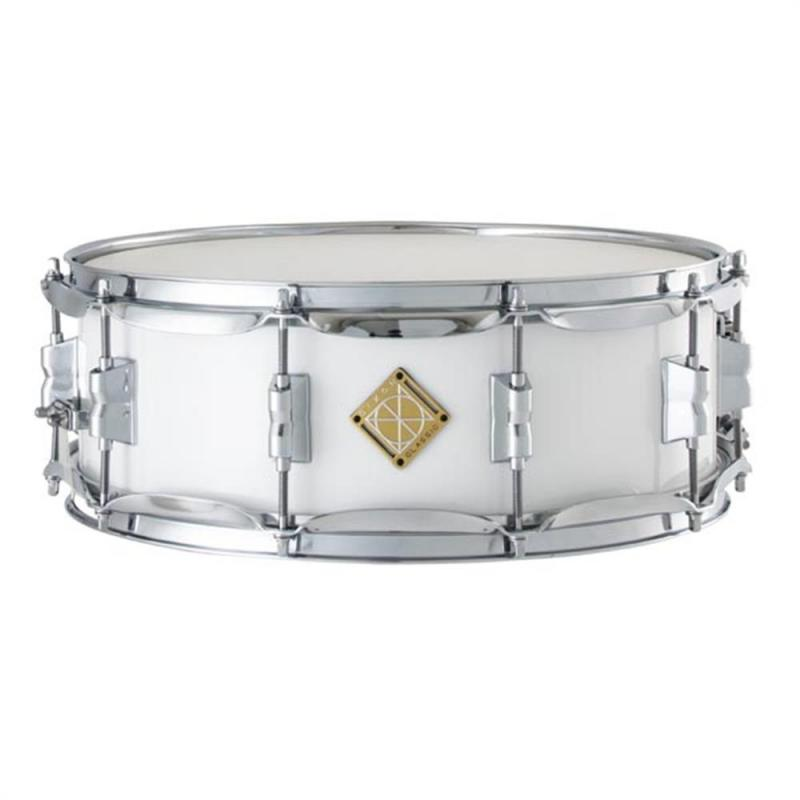 Dixon PMSCL054-WT Marching Snare Drum 14×5 Wood Shell – White