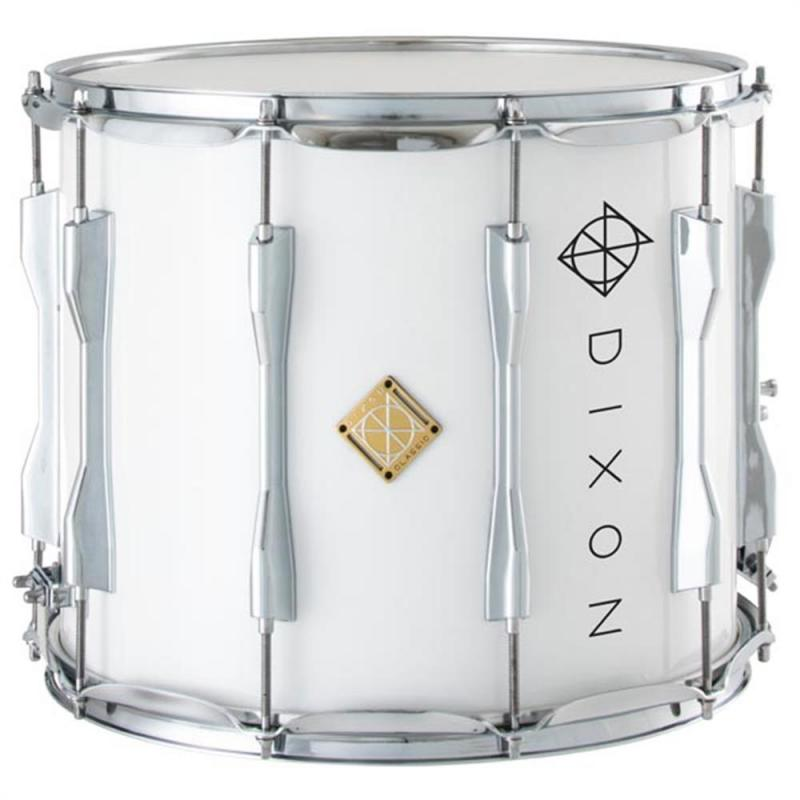 Dixon PMSCL124-WT Marching Snare Drum 14×12 Wood Shell – White