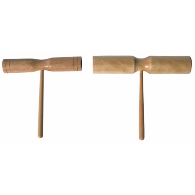 Planet Music Tone Block Double Wood inkl. klubba