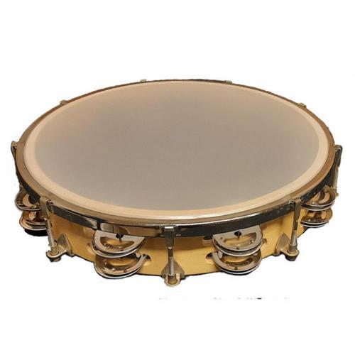 Dixon 10″ Tambourine Wood Headless – 8 Jingle Pairs