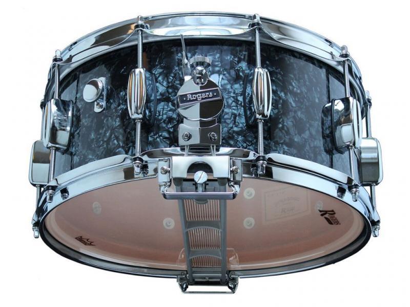 Rogers DynaSonic 14×6.5 Wood Shell Snare   B&B Lug – Black Diamond Pearl
