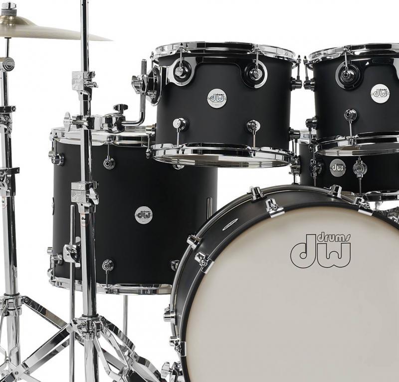 DW Drum Workshop Shell set Design, Black Satin