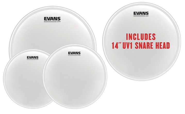 """Tom Pack UV1 Coated Fusion 10'', 12'', 14'' + 14"""" snare"""