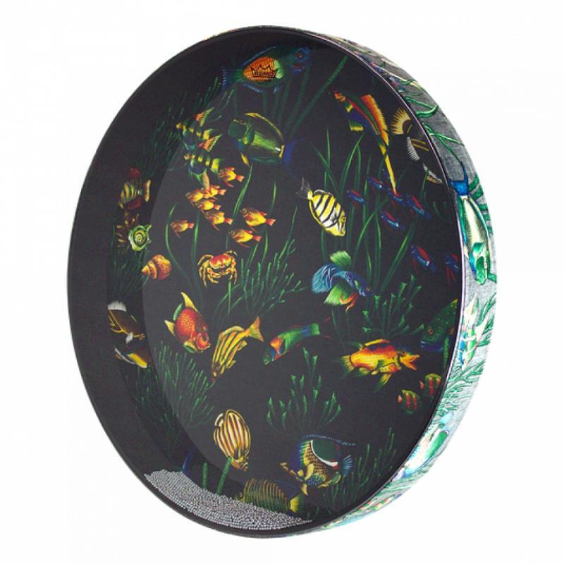 """Ocean drum 22"""" Fish graphic"""