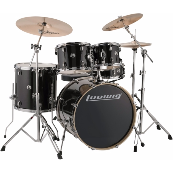 """Ludwig Element Evolution 22"""" inkl. hardware - Black Sparkle"""