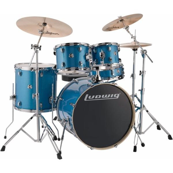 """Ludwig Element Evolution 22"""" inkl. hardware - Blue Sparkle"""
