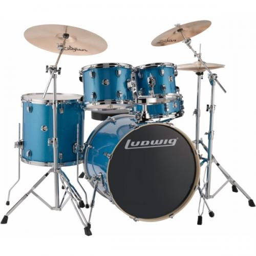 "Ludwig Element Evolution 22"" inkl. hardware - Blue Sparkle"