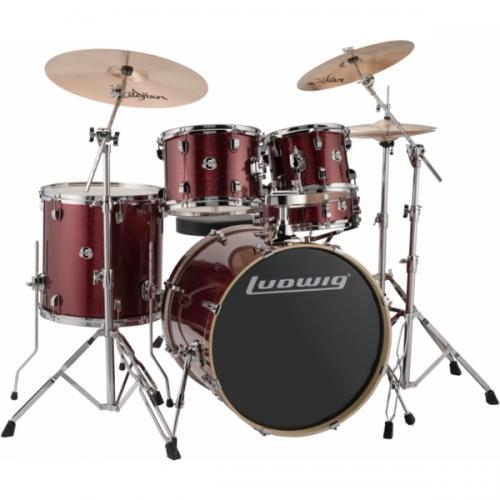 "Ludwig Element Evolution 22"" inkl. hardware - Red Sparkle"