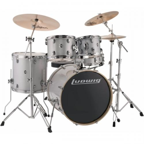 "Ludwig Element Evolution 22"" inkl. hardware - Silver/White Sparkle"