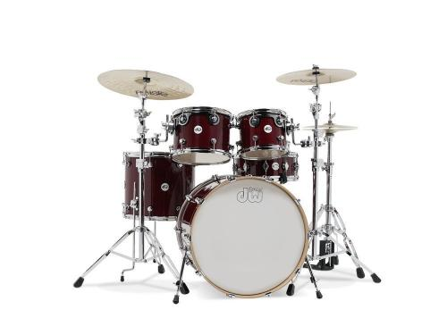 DW Design Series, Cherry Stain - 5-delars set