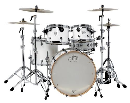 DW Design Series, White Gloss - 5-delars set