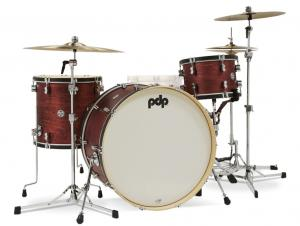 "PDP Concept Classic Shellset - Ox Blood Satin/Ebony Hoop 26"", 13"", 16"", Visnings-exemplar"
