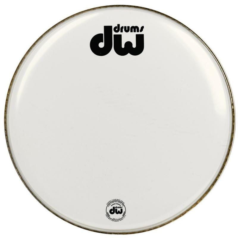 """DW Bass drum head White coated 20"""" CW-20K"""
