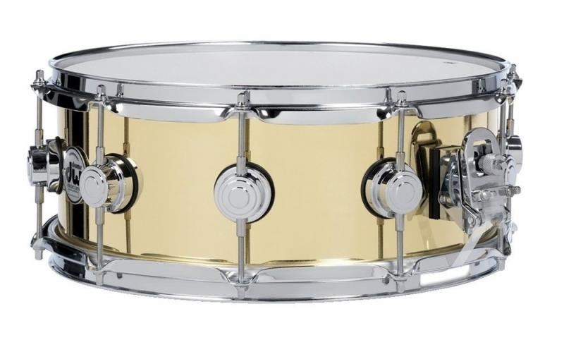 """DW Snare Drum Yellow brass 14x4"""""""