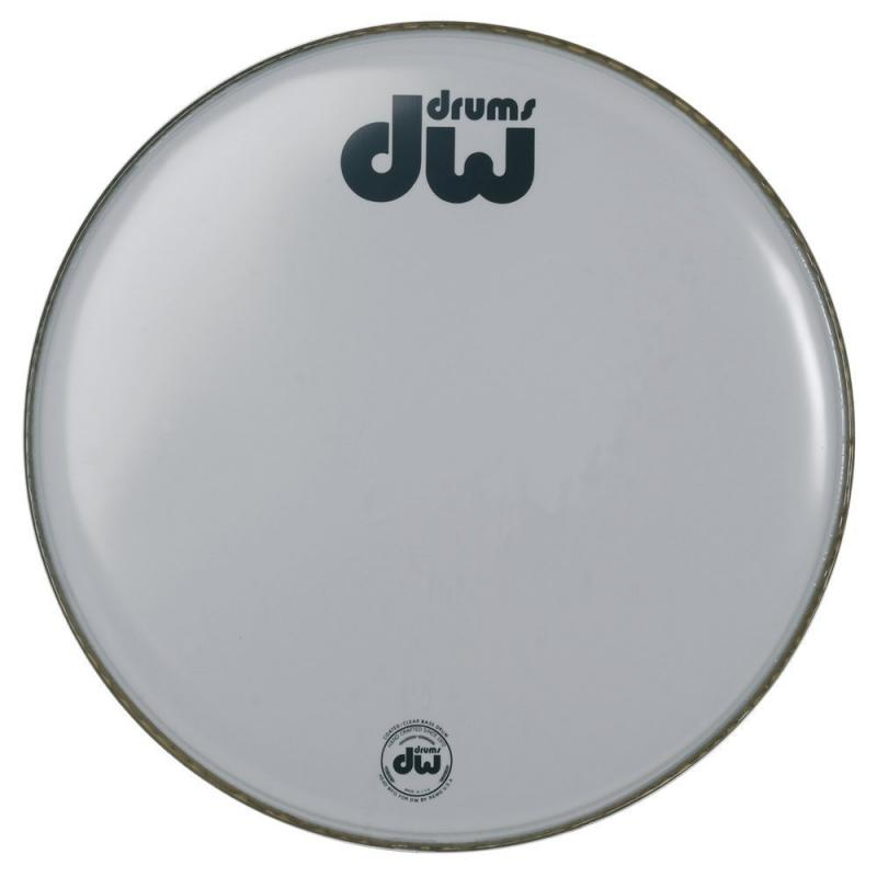 """DW Bass drum head White coated 22"""" CW-22K"""