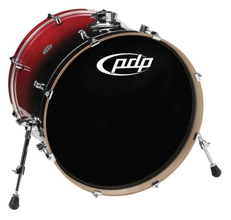 PDP Bass Drum Concept birch Cherry to Black Fade