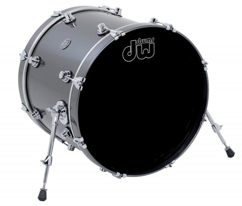 DW Bass Drum Performance Lacquer Gun Metal Metallic