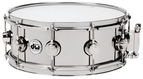 DW Snare Drum Stainless Steel 13x5,5""