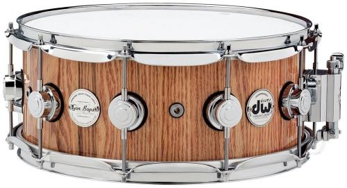 DW Snare Drum Solid Stave Oak Natural Lacquer