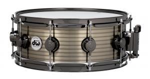 "DW Snare Drum Vintage Brass over Steel 14x4"""