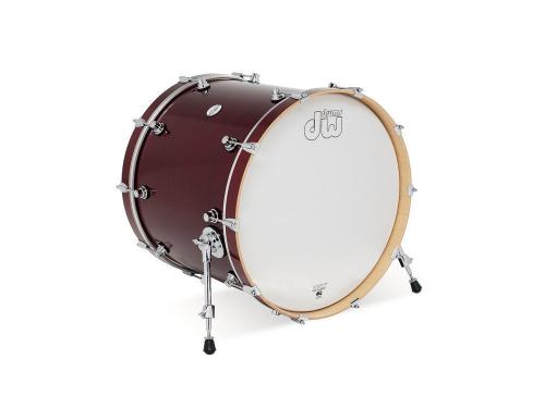 DW Bass Drum Design Cherry Stain