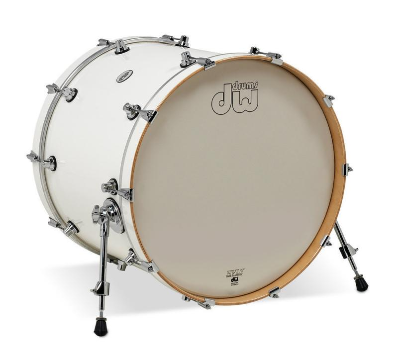 DW Bass Drum Design White Gloss