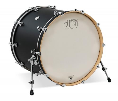 DW Bass Drum Design Black Satin