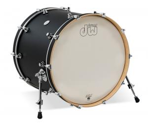 DW Bass Drum Design Black Satin