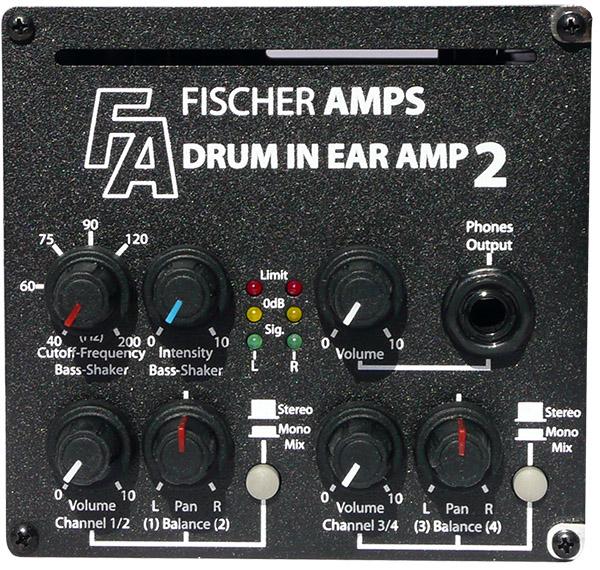Drum InEar Amp 2 + bass shaker III med fäste