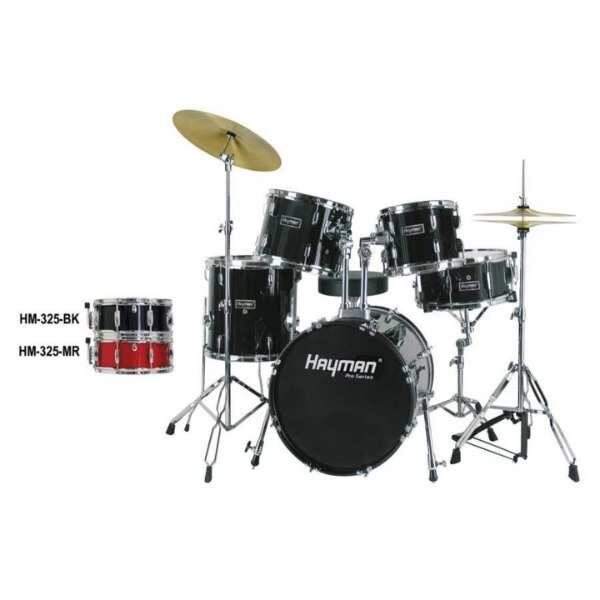 Hayman HM-325 Pro Series Jazz Drum Set Black