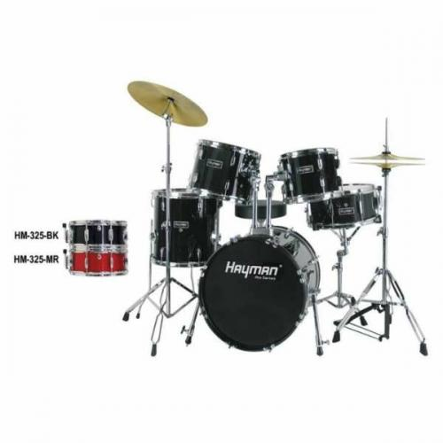 Hayman HM-325 Pro Series Jazz Drum Set Black