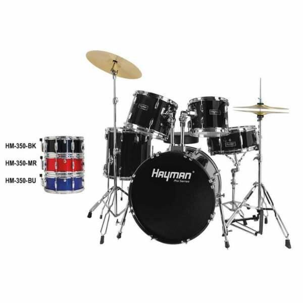Hayman HM-350 Pro Series Fusion Drum Set Black