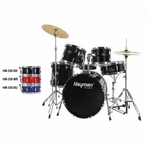 Hayman HM-350 Pro Series Fusion Drum Set Black
