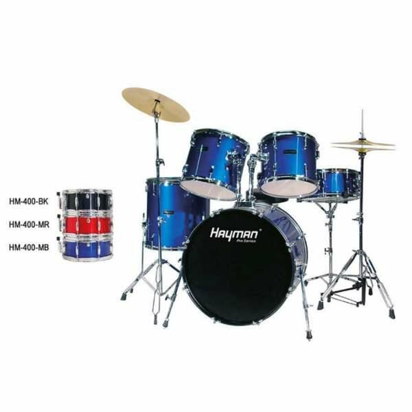 Hayman HM-400 Pro Series Rock Drum Set Black