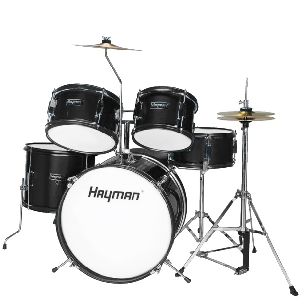 Juniortrummor trumset Svart, Hayman HM-50