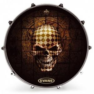 "22"" Evans Inked - CHECKED SKULL"