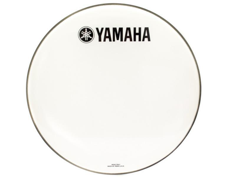 "Yamaha Logo Drum Head Classic Logo P3 White 22"""