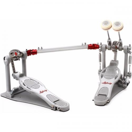 Ludwig Atlas Pro Double Bass Drum Pedal w/ Rock Plate