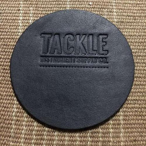 Tackle Leather Bass Drum Beater Patch Large – Svart