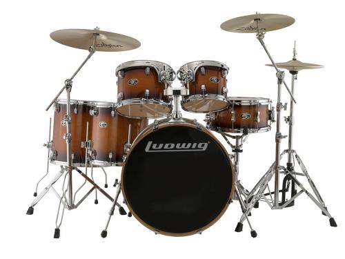 "Ludwig Evolution Maple 22"" Shell Pack - Mahogany Burst"