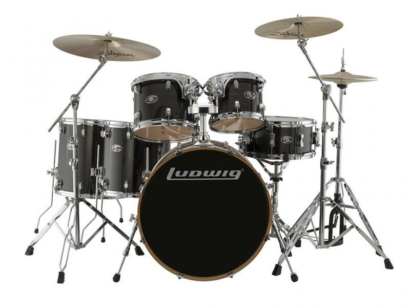 "Ludwig Evolution Maple 22"" Shell Pack - Transparent Black"