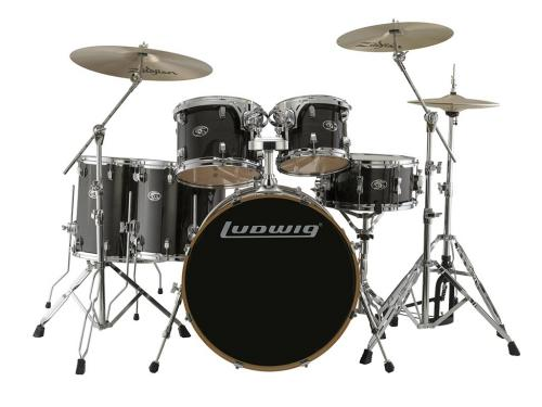 "Ludwig Evolution Maple 22"" Shell Pack - Transparent Black"