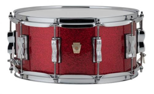 """Ludwig LS403 Classic Maple Snare 14x6.5"""" - Red Sparkle"""