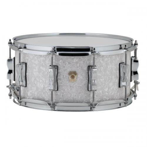 """Ludwig LS403 Classic Maple Snare 14x6.5"""" - White Marine"""