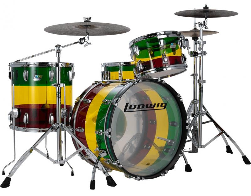 Ludwig Vistalite Fab Outfit Island Sunset – Limited Edition